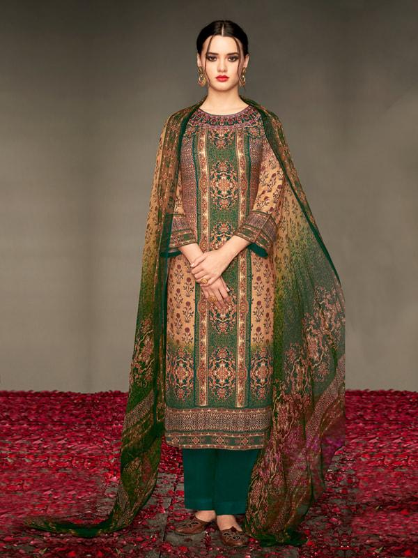 f5cbbc01174 Shop the Winter Wear Pashmina Salwar Kameez Online - Inddus.com
